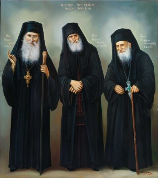 Elder Iakovos, Elder Paisios and Elder Porphyrios